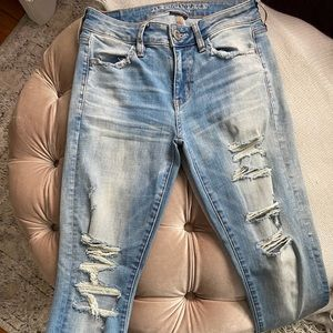 American Eagle Distressed Skinny Jegging